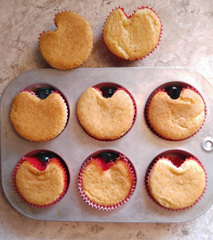 Cupcakes with a heart shape