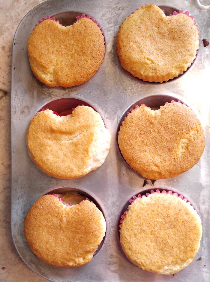 Don't overfill the cupcake liners!