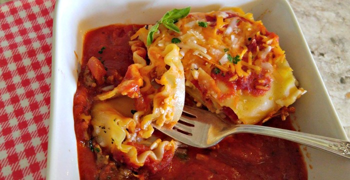Take a bit of these Lasagna roll ups