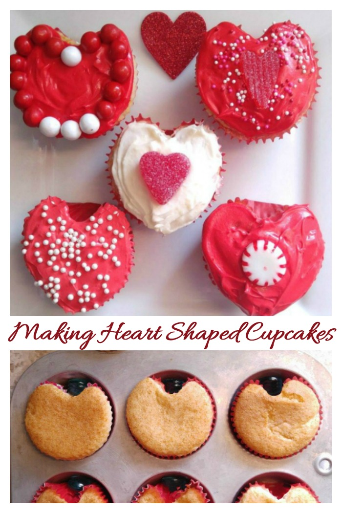 Making heart shaped cupcakes is easy with this simple trick.