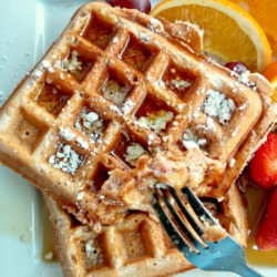 Strawberry Belgian Waffles