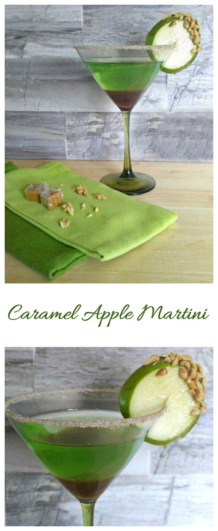 This Caramel Apple Martini has the delightful flavors of fall but you don't have to wait to try one!