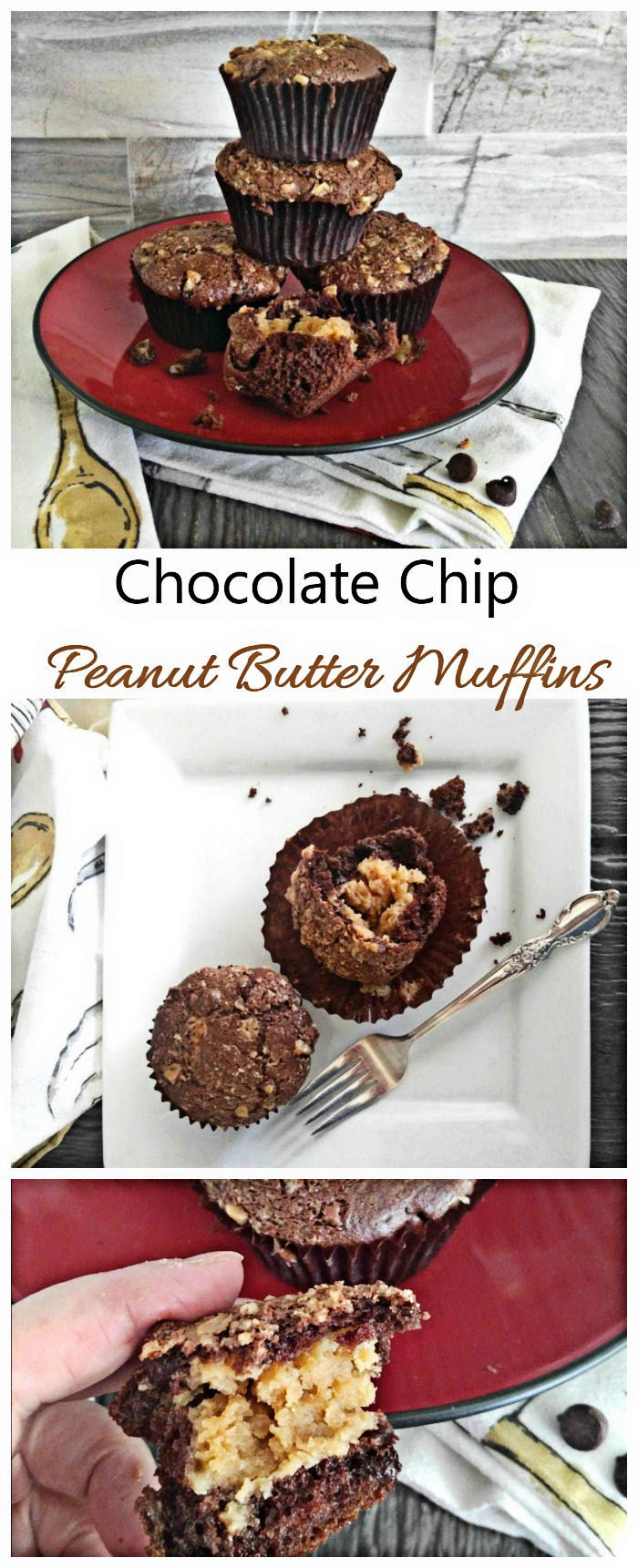 These Chocolate Peanut Butter Muffins are just plain amazing. They are a cross between a muffin and a cupcake.