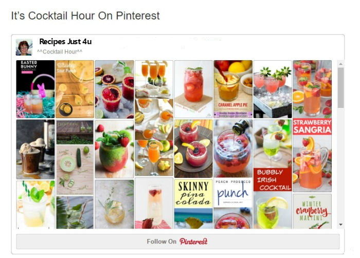 PInterest Cocktail Hour Board