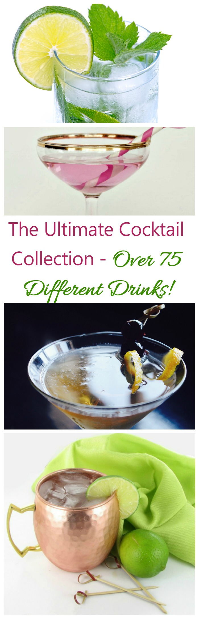 The ultimate collection of cocktail recipes. Over 75 timeless, fun drinks for every season and every holiday. Belly up to the Bar. 4 21+