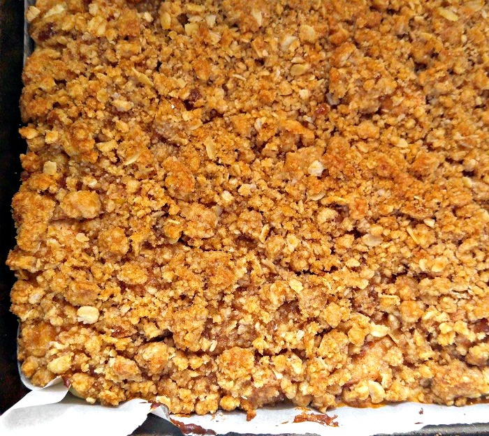 Cooked Streusel topping