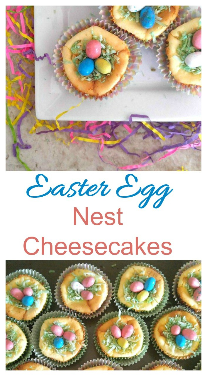 Use robin's eggs and toasted coconut on top of mini cheesecakes for Easter.