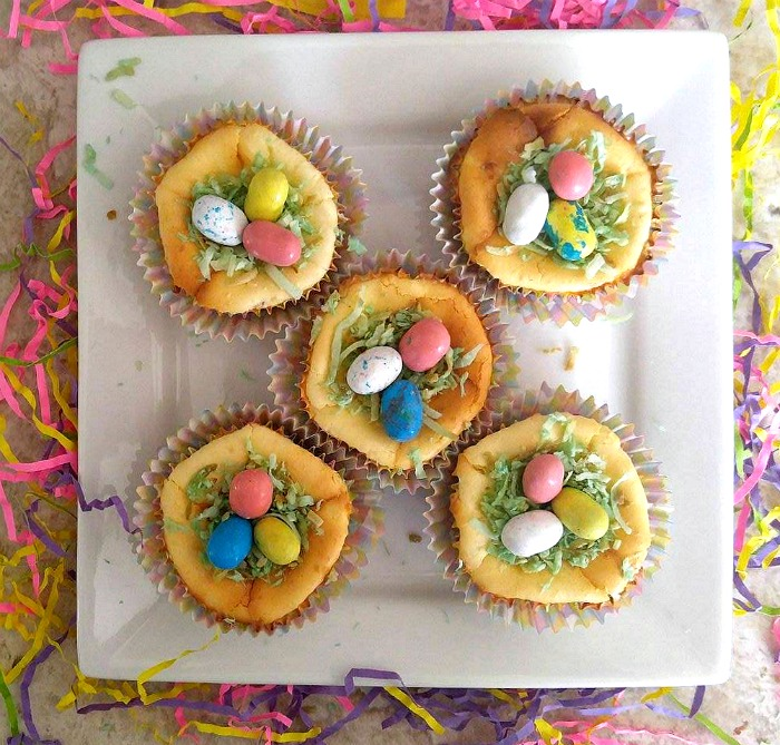 Easter Egg Nest Cheesecakes