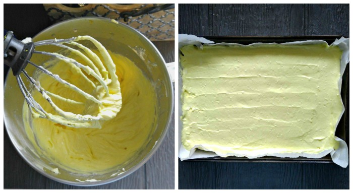 Lemon cheesecake layer