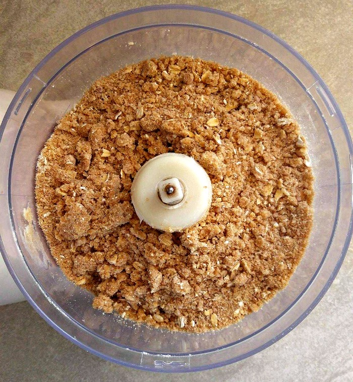 Finished streusel topping