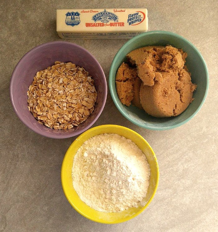 Ingredients for a streusel topping
