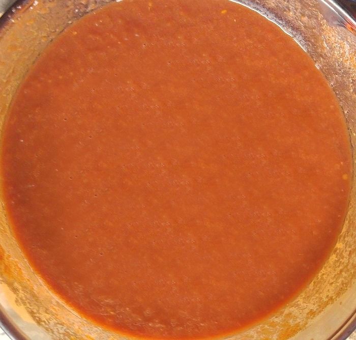Blended BBQ sauce