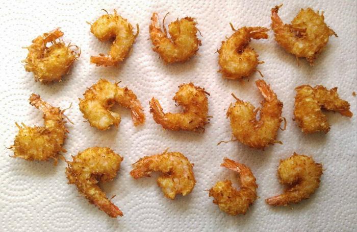 Friend beer battered coconut shrimp