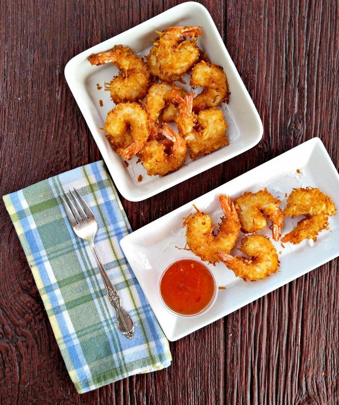 Amazing beer battered coconut shrimp