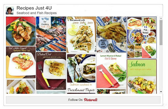 Pinterest collage of Seafood and Fish Recipes