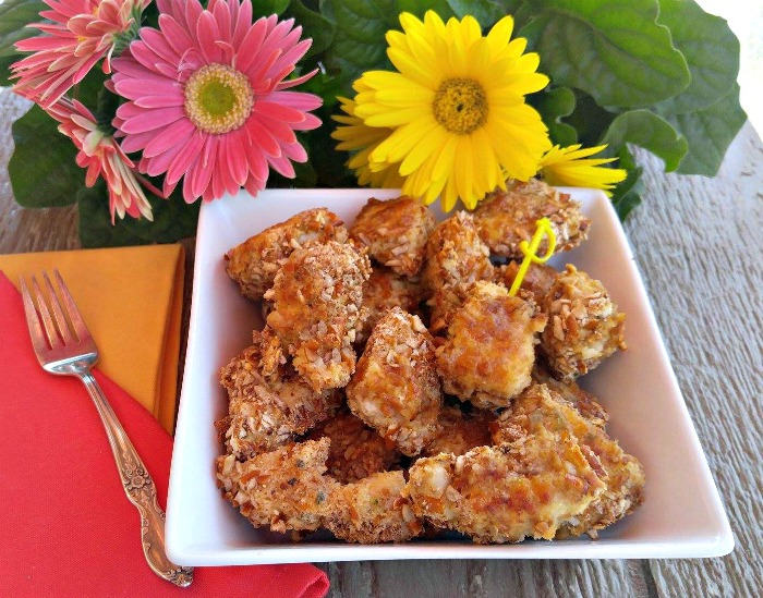 These Pretzel crusted chicken tenders make a great BBQ appetizer