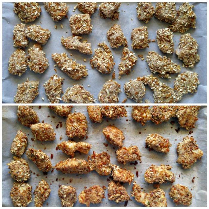 Baking Pretzel crusted chicken tenders