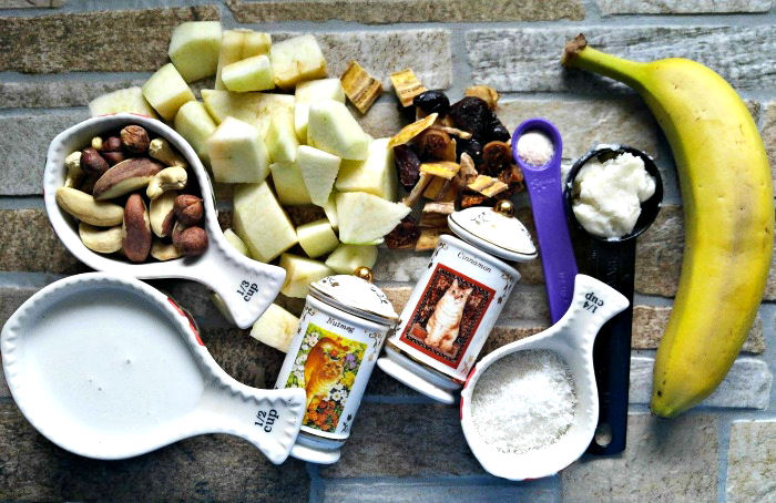 Ingredients for the Whole30 Breakfast Bowl