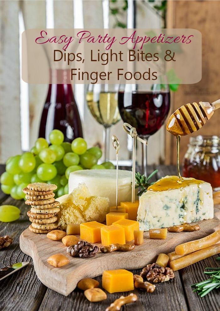This collection of easy appetizers includes dips, finger food and light bites for a successful party without a big hassle.