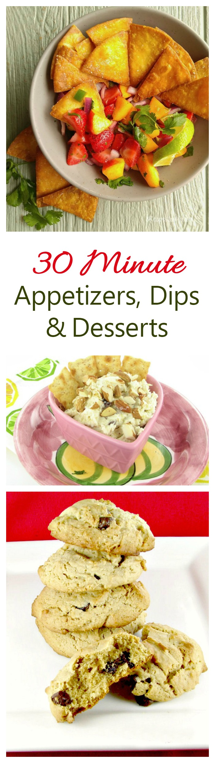These appetizers, dips and desserts are ready to serve your party guests in less than 30 minutes