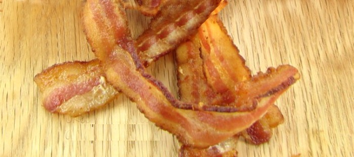 Crisp bacon gets cooked first