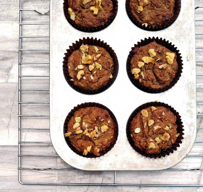 Baked Paleo banana nut muffins
