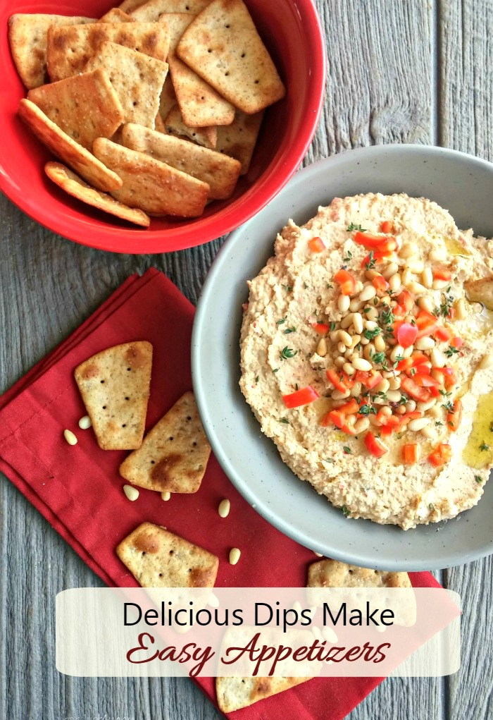 Delicious dips make wonderful easy appetizers
