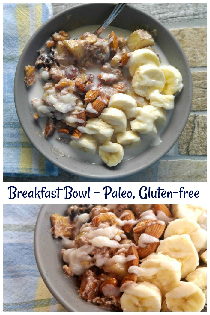 This healthy breakfast bowl fits into a Paleo and Gluten free diet. It is also Whole30 compliant