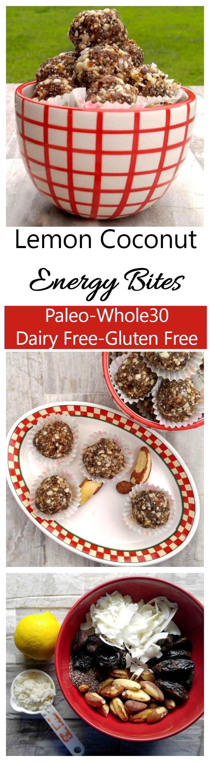 These delicious lemon coconut energy bites are perfect for a snack or light dessert. They are Paleo, Whole30 compliant and gluten and dairy free. So tasty too!