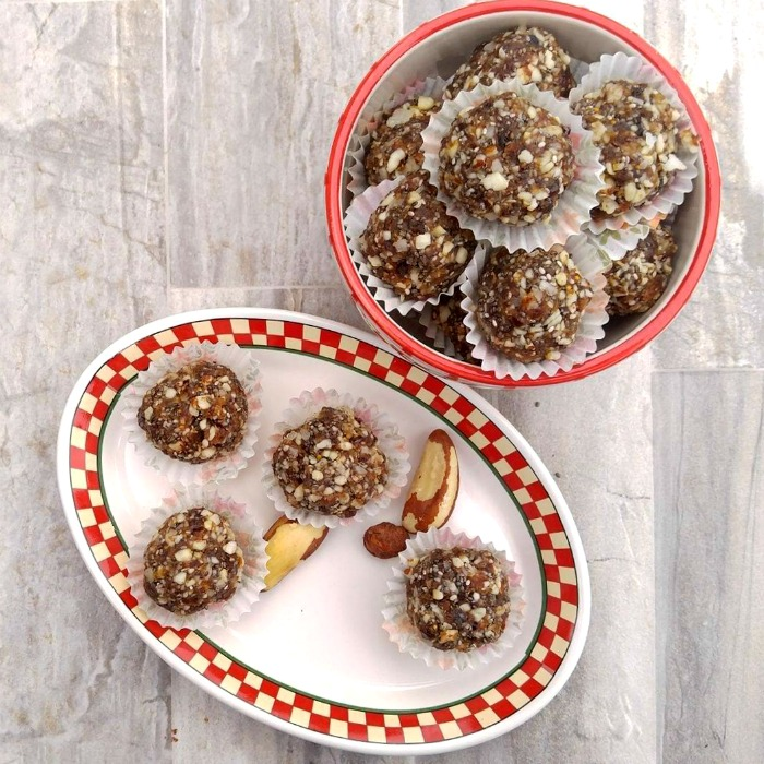 Energy balls are a great snack.