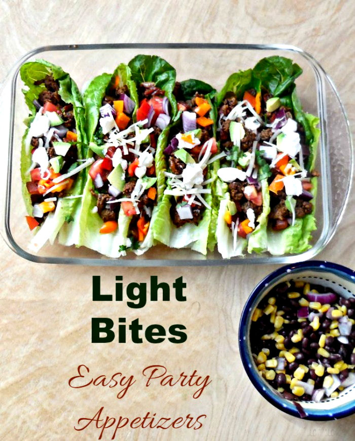 Light bites make great party appetizers