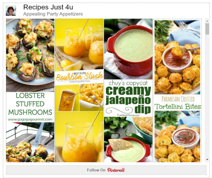 Appealing party appetizers on Pinterest
