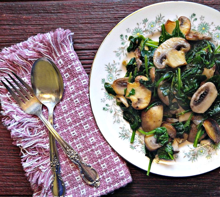 What a great looking plate of mushrooms and spinach