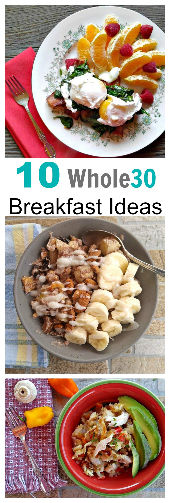 These 10 Whole30 breakfast recipes are easy to make and tasty and filling. Get some variety into your morning routine with one of these ideas.