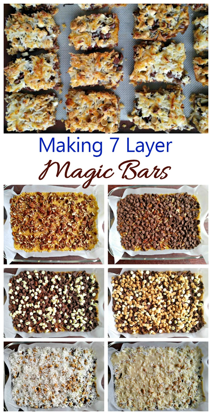7 layer Magic bars are very easy to make. It's all about the layering!
