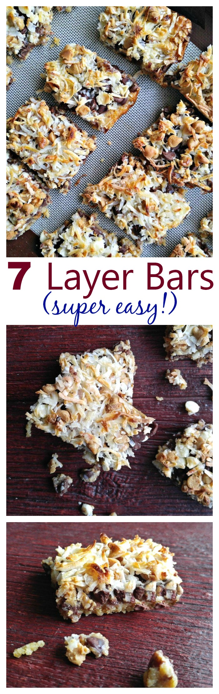 These seven layer bars could not be easier to put together. They are perfect to take to summer parties.
