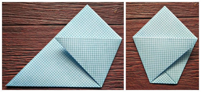 Fold your paper to make a pentagram shape