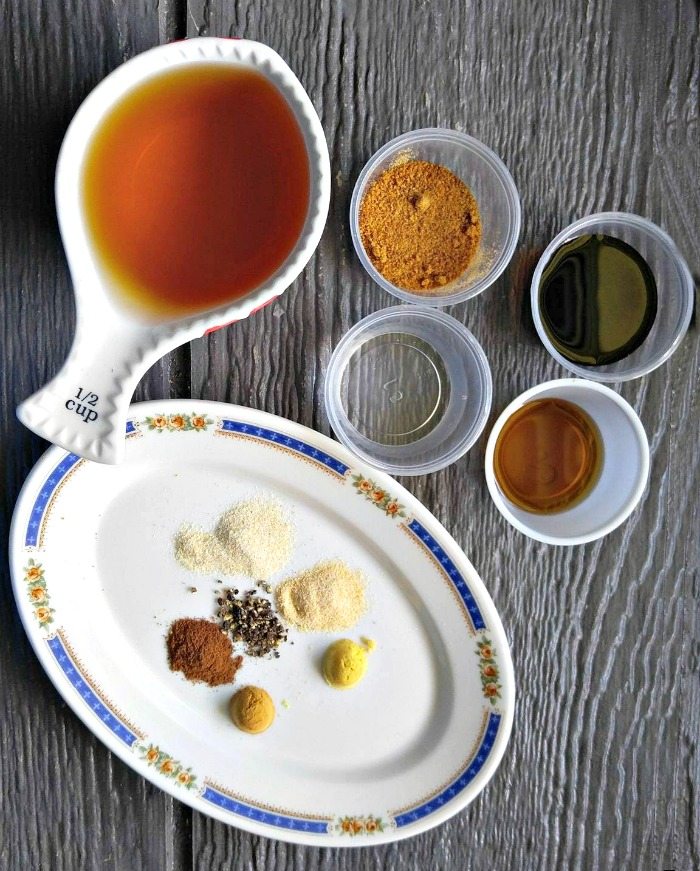 ingredients for Paleo Worcestershire Sauce