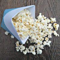 Paper cone and popcorn