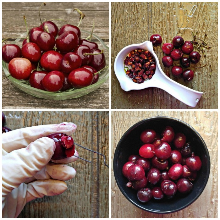 PItting cherries with a paper clip