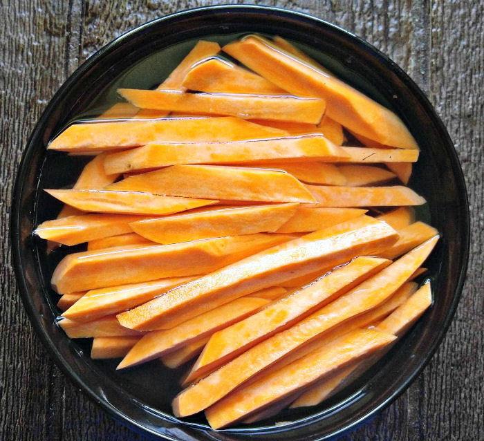 Soak the sweet potatoes