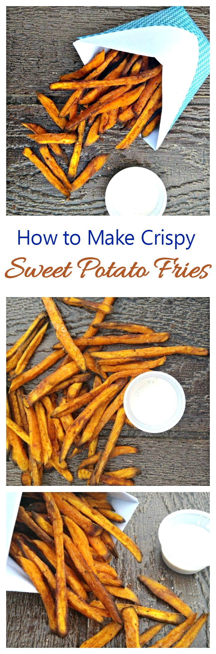 Sweet potatoes are a healthy comfort food but sometimes are soggy when cooked. See how to make them perfectly crispy, every time!
