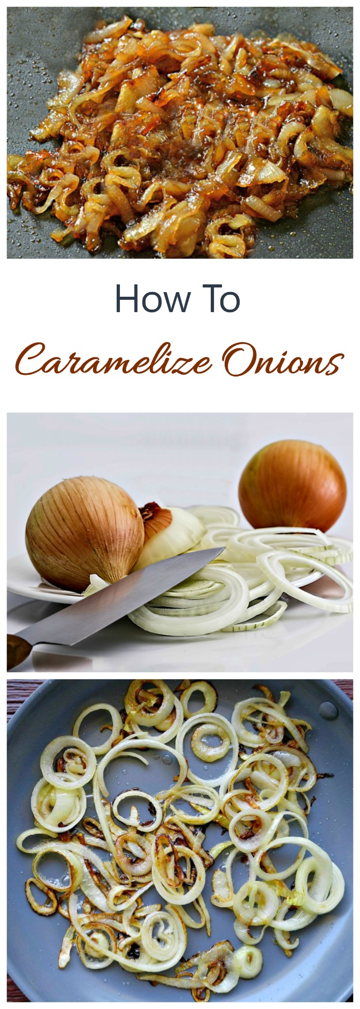 Learning how to caramelize onions is an essential cooking tip. Onions cooked this way add loads of flavor to so many dishes.