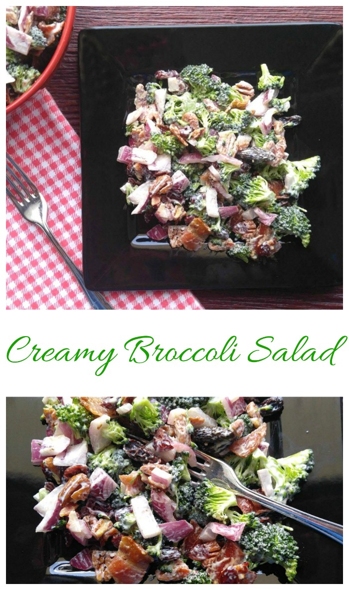 This creamy broccoli salad has been lighted up for a healthier take on the traditional favorite. Don't let that fool you though...it retains ALL the flavor.