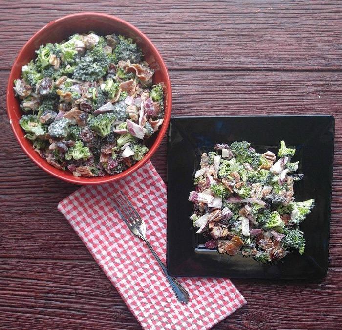 Yummy broccoli salad makes a great side dish