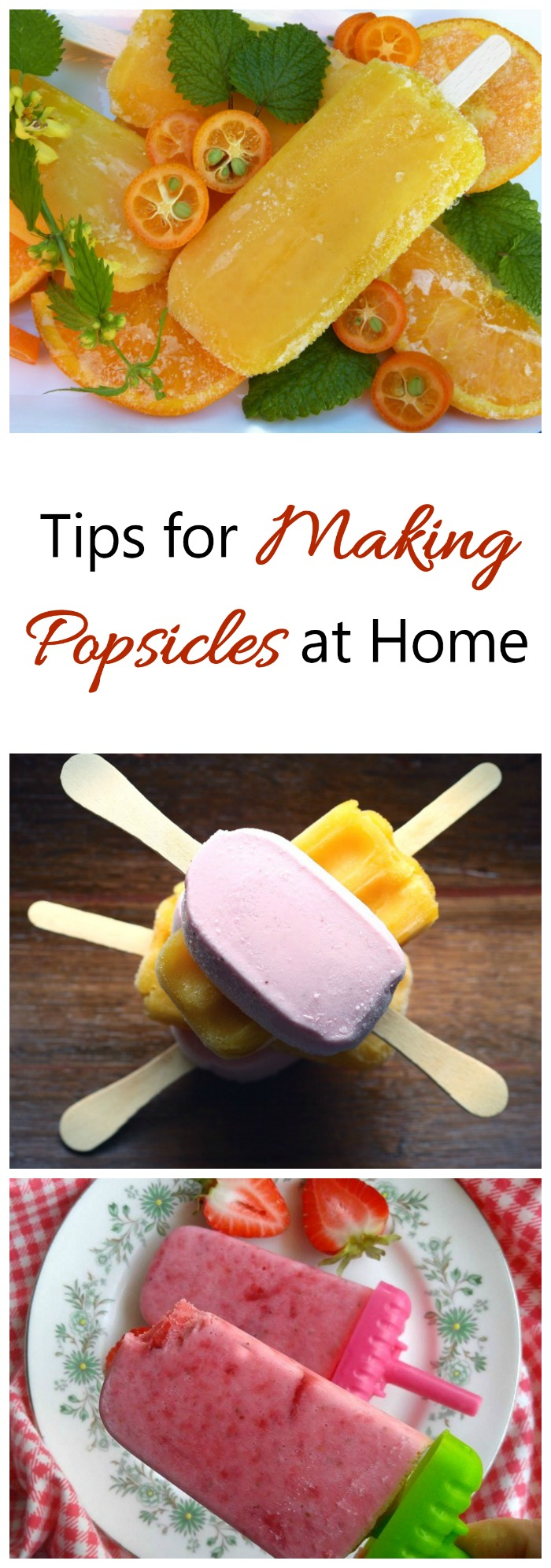 Making popsicles is more than pouring fruit juice into a mold. See these tips for great tasting popsicles that are not just a block of ice.