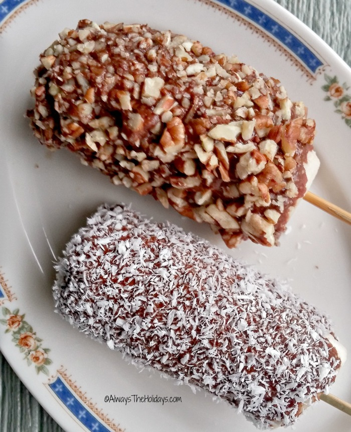 """Nutella"" frozen banana pops"