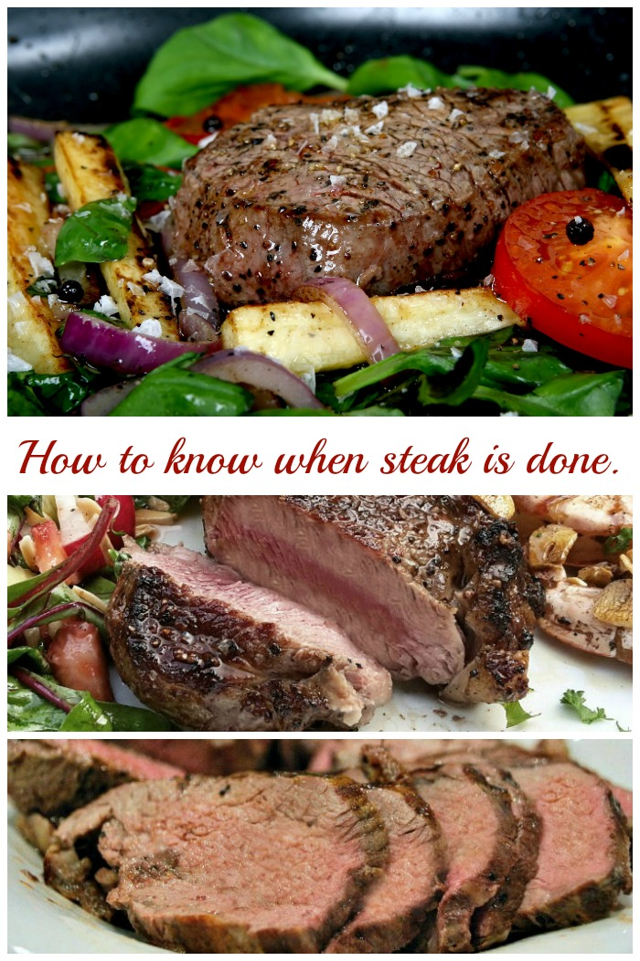 How to know when steak is done to your liking.