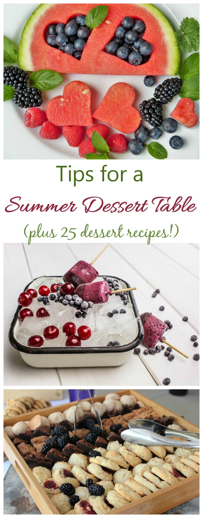 These tips for a summer dessert table show what to serve that will take the heat.