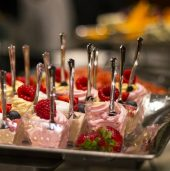 Serve desserts in individual sized portions to combat heat problems in the summer